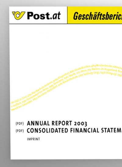 Post AG | Annual Report | 2004 (Screen) © echonet communication