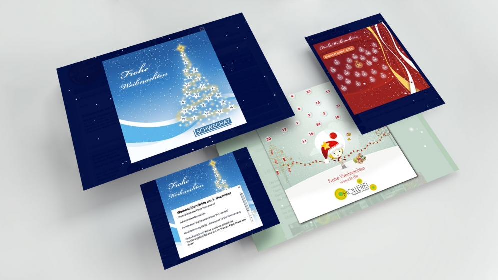 xmas.life Advent | Samples (Floating Screens) © echonet communication