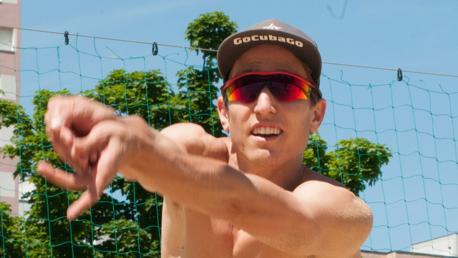 Sponsoring Go Cuba Go - Beachvolleyball-Team Winter-Hörl | 2019 (Julian Hörl, CloseUp) © Team Winter Hörl