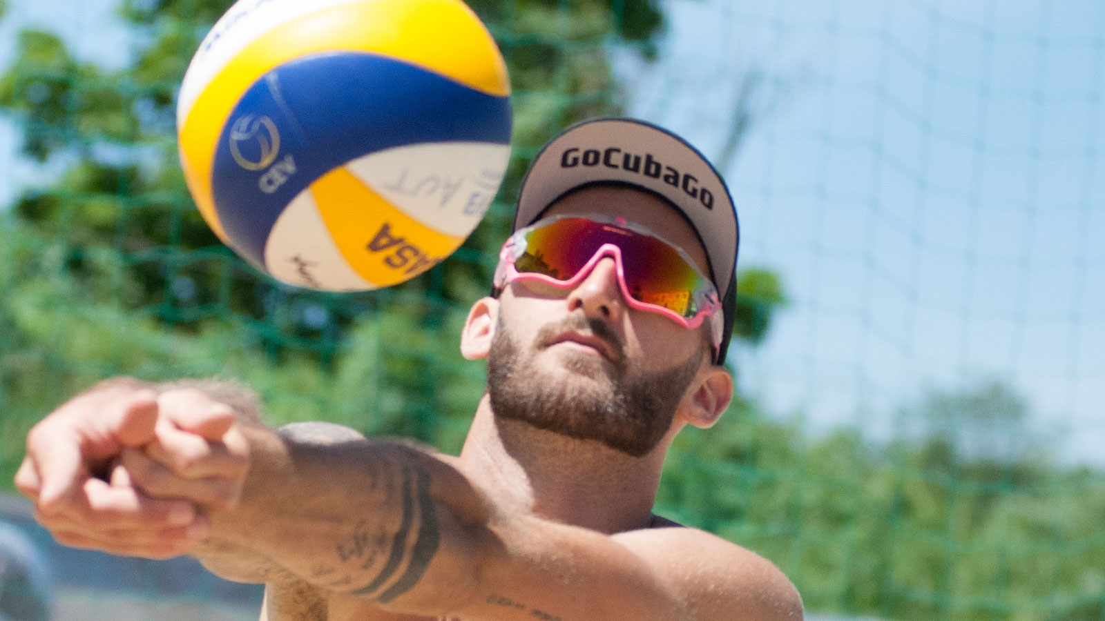 Sponsoring Go Cuba Go - Beachvolleyball-Team Winter-Hörl | 2019 (Tobias Winter, Baggern) © Team Winter Hörl
