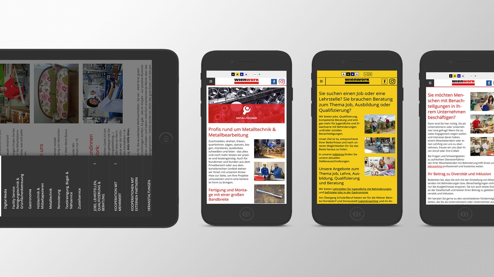 Wien Work | wienwork.at | 2016 (Responsive Tablet Phones) © echonet communication